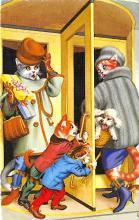 cat254328 - Cat Post Card Old Vintage Antique