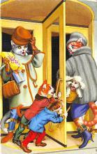cat254330 - Cat Post Card Old Vintage Antique