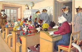 cat254387 - Cat Post Card Old Vintage Antique