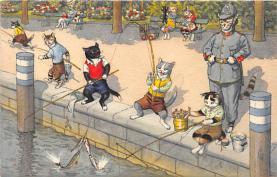 cat254393 - Cat Post Card Old Vintage Antique