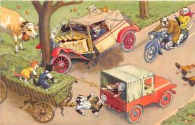 cat254417 - Cat Post Card Old Vintage Antique