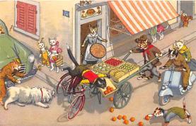 cat254459 - Cat Post Card Old Vintage Antique