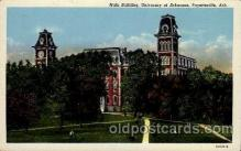cau001041 - U of Arkansas, Fayettecville, Ark USA Main Building Old Vintage Antique Post Card Post Card