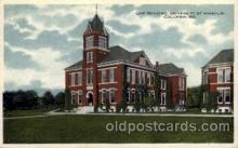 cau001052 - U of Missouri, Columbia, Mo.USA Law Building Old Vintage Antique Post Card Post Card