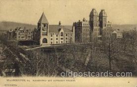 cau001057 - Washington, PA USA Washington & Jefferson College Old Vintage Antique Post Card Post Card
