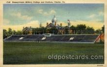 cau001063 - PA Military, Chester, PA USA Pennsylvania Military College & Stadium Old Vintage Antique Post Card Post Card