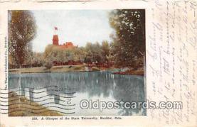 cau001072 - College Vintage Postcard