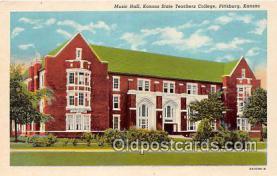 cau001082 - College Vintage Postcard
