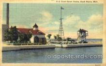 cgs001005 - US Coast Guard Station South Haven, Mich, USA Postcard Post Cards Old Vintage Antique