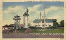 cgs001009 - Chatham Light & Coast Guard Station Cape Cod, Mass, USA Postcard Post Cards Old Vintage Antique
