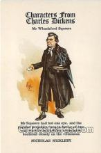 chd100008 - Reproductions - Characters from Charles Dickens Mr Whackford Squeers Postcard Post Card