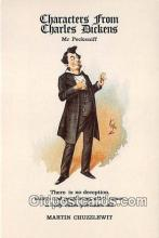 chd100012 - Reproductions - Characters from Charles Dickens Mr Pecksniff, Martin Chuzzlewit Postcard Post Card