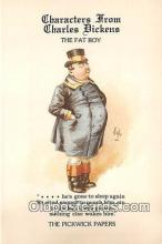 chd100019 - Reproductions - Characters from Charles Dickens The Fat Boy, Pickwick Papers Postcard Post Card