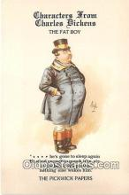 chd100020 - Reproductions - Characters from Charles Dickens The Fat Boy, Pickwick Papers Postcard Post Card