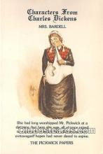 chd100022 - Reproductions - Characters from Charles Dickens Mrs Bardell, Pickwick Papers Postcard Post Card