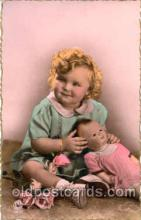 chi001014 - Child Children with Doll Dolls Postcard Post Card
