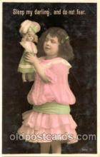chi001020 - Child Children with Doll Dolls Postcard Post Card