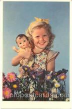 chi001048 - Child Children with Doll Dolls Postcard Post Card