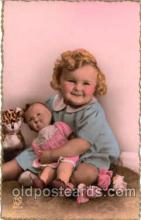 chi001049 - Child Children with Doll Dolls Postcard Post Card