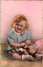 chi001051 - Child Children with Doll Dolls Postcard Post Card