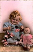 chi001064 - Children with Doll Postcard Post Card