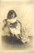 chi001067 - Children with Doll Postcard Post Card