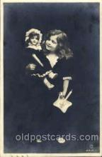 chi001072 - Children with Doll Postcard Post Card