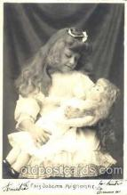 chi001073 - Children with Doll Postcard Post Card