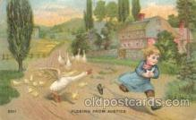chi002206 - Fleeing from justice Children, Child, Postcard Post Card