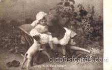 chi002224 - Love in a barrow Children, Child, Postcard Post Card