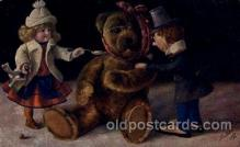chi002230 - Teddy bear Children, Child, Postcard Post Card