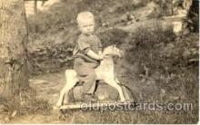 chi003040 - Child Children with Rocking Horse Postcard Post Card