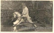 chi003043 - Child Children with Rocking Horse Postcard Post Card