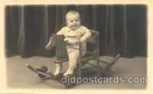 chi003044 - Child Children with Rocking Horse Postcard Post Card