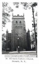 chr001008 - St. michaels Catholic Church, Newark, New York, N.Y., USA Church Churches Postcard Post Card