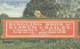 cir001023 - Sarasota, FL. USA, Ringling Bros.& Barnum & Bailey Circus Postcard Post Card