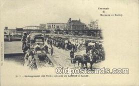 cir001049 - Dechargement des trains speciaux de Barnum & Bailey Circus Postcard Post Card Old Vintage Antique