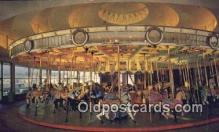cir001052 - Merry Go Round Built in 1910 Circus Postcard Post Card Old Vintage Antique