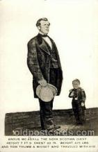 cir002032 - Tallest Person, Giant Angus Mc Askill, & Tom Thumb Postcard Post Card