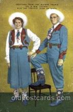 cir002049 - Fischer Couple with the greatest show on earth, Circus Tallest Person, Giant, Postcard Post Card