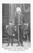 cir002107 - Giants, Tallest Person Circus Postcards