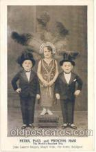 cir003005 - Peter, Paul and Princess Hani, John Lesters Midgets, Circus Midget Town Smallest Person Postcard Post Card