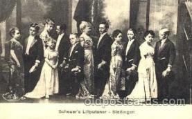 cir003031 - Scheuer's Liliputaner, Smallest Person, Midget, Midgets, Dwarf,  Circus Postcard Post Card