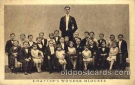 cir003034 - Chaffer's Midgets, Smallest Person, Midget, Dwarf,  Circus Postcard Post Card