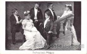 cir003037 - Tschuschke's Midgets, Smallest Person, Midget, Midgets, Dwarf,  Circus Postcard Post Card