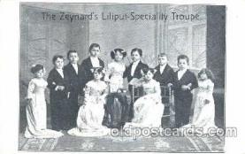 cir003066 - The Zeynards, Smallest Person, Midget, Midgets, Dwarf,  Circus Postcard Post Card
