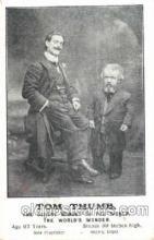 cir003077 - Tom Thumb 67 years old, Smallest Person, Midget, Midgets, Dwarf,  Circus Postcard Post Card