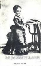 cir003081 - Mrs. Tom Thumb, Smallest Person, Midget, Midgets, Dwarf,  Circus Postcard Post Card