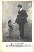 cir003086 - Smaun Sing Hpoo Smallest Person, Midget, Midgets, Dwarf,  Circus Postcard Post Card