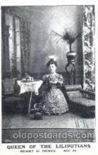 cir003087 - Queen of the Liliputians, Smallest Person, Midget, Midgets, Dwarf,  Circus Postcard Post Card